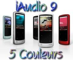 Cowon iAudio 9 en 5 couleurs !