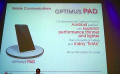 L'Optimus Pad d'LG équipée avec le Tegra 2 ?