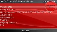 Zer01ne M33 : un mode recovery au look Sony !!!