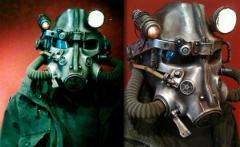 Casque de moto inspiré par Fallout