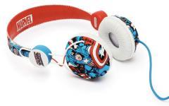 Le casque avec l'image Captain America