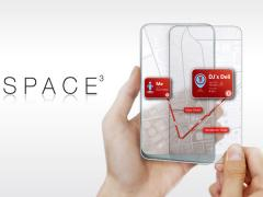 Space3: concept de touchphone � 2 �crans translucides