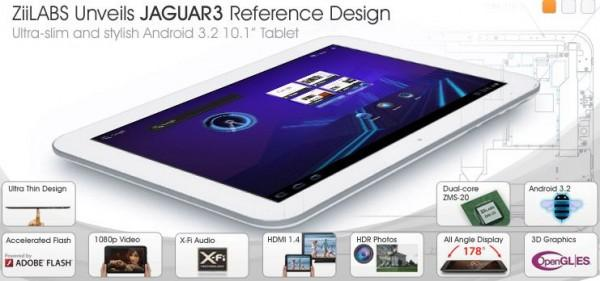 ZiiLabs lance sa tablette Jaguar3