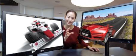 LG pr�sente ses derniers �crans LCD Glasse-Free 3D, le LG DX2500