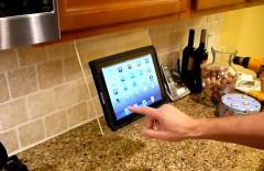Un support cuisine fait pour iPad