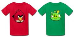 T-Shirts pour Angry Birds aussi