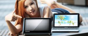 Samsung NC215S + panneau solaire en Core du sud