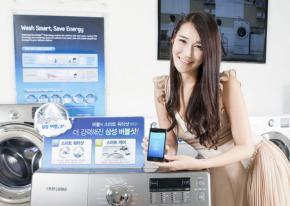 Samsung: Une machine à laver commandée par son smartphone