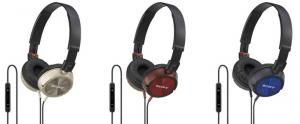 Sony: 3 nouveaux casques compatibles iPhone/iPod au Japon 