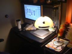 L�iMac G4 transform� en lampe de chambre