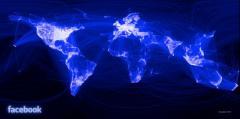 Facebook: les relations d'amitié sur tous les continents
