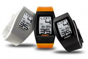 Phosphore World Time Sport: montre E ink de type sportive