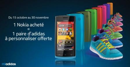 1 Nokia achet� = chaussures Adidas gratuites