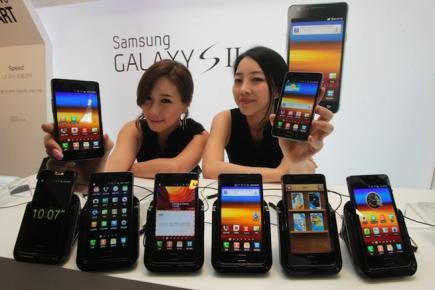 Samsung a vendu 300 millions de t�l�phones en 2011