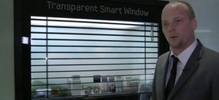 Samsung d�voile ses �crans LCD transparents de 46″
