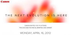 NAB 2012: Canon pr�pare une surprise pour le NAB