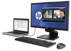 HP: moniteur docking 23″ USB 3.0