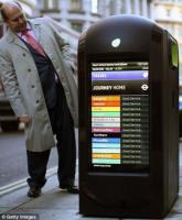 Londres: bacs de recyclages avec �crans LCD