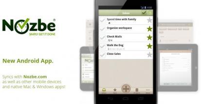 Version 2.0 de Nozbe disponible sous Android