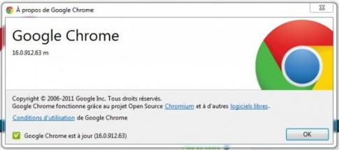Google Chrome: version 16