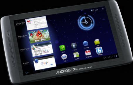 Archos pr�sente sa tablette Archos 70b internet tablet � 198�