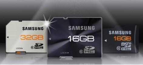 Samsung: cartes m�moire tr�s r�sistantes